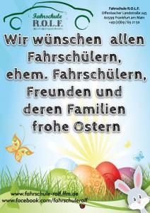 Fahrschule R.O.L.F. Ostergruß